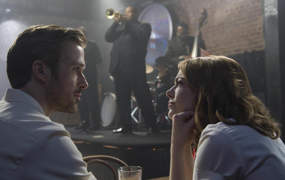 STJERNEDUO: Ryan Gosling og Emma Stone har tidligere spilt side om side i filmer som «Crazy, Stupid, Love» (2011) og «Gangster Squad» (2013). Dette bildet er fra «La La Land». Foto: NTB Scanpix