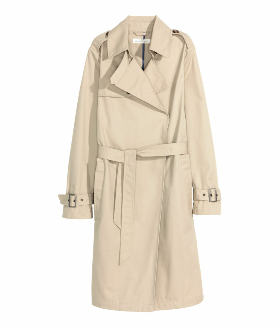 <strong>Trenchcoat fra H&M   kr 299   http:</strong>//www.hm.com/no/product/37482?article=37482-A