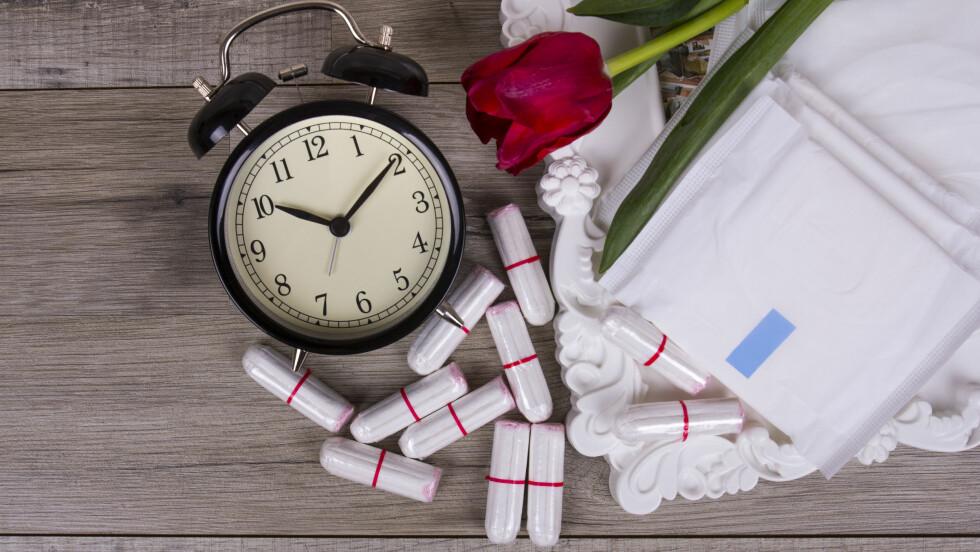 BØR SKIFTES OFTE: Tampongen bør faktisk ikke sitte i i mer enn fem timer. Foto: Scanpix