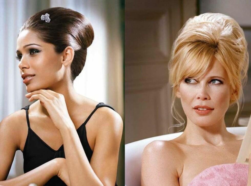 <strong>VI SIER BARE WOW:</strong> Freida Pinto som Audrey Hepburn og Claudia Schiffer som Brigitte Bardot. Foto: Vincent Peters
