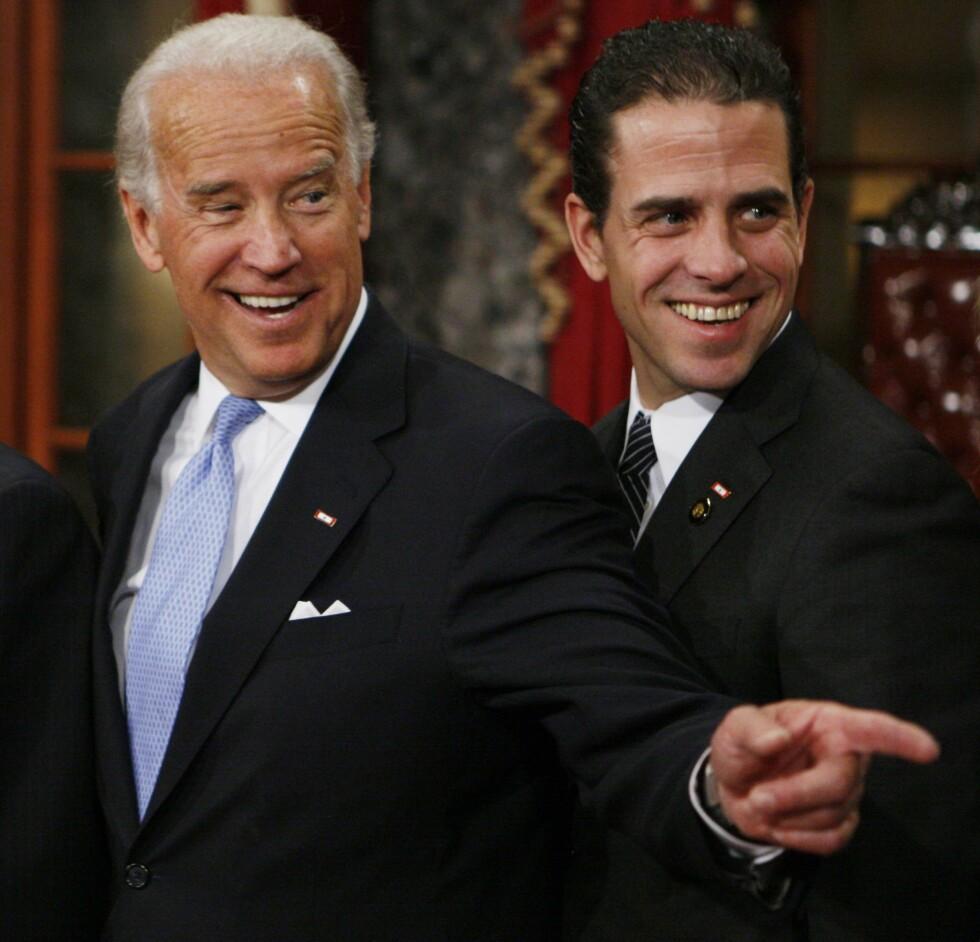 FAR OG SØNN: Joe og Hunter Biden. Foto: AP
