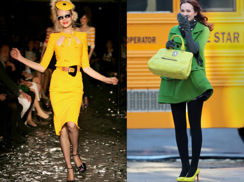 <strong>Fargen er alle steder:</strong> Fra Sonia Rykiels visninger og til til Gossip Girl-settet.