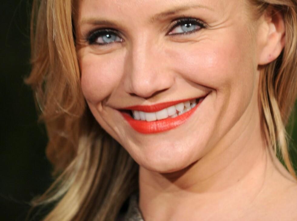 SMIL SOM CAMERON: Frøken Diaz har ikke problemer med å trekke på smilebåndet.  Foto: All Over Press