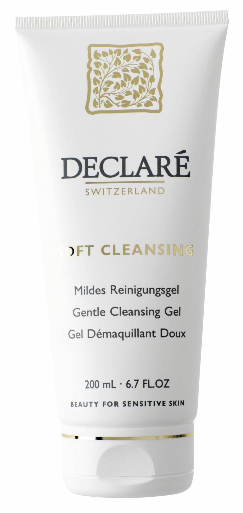 Soft Cleansing Gel er en mild rensegelé for sensitiv hud (kr 150, Declaré).