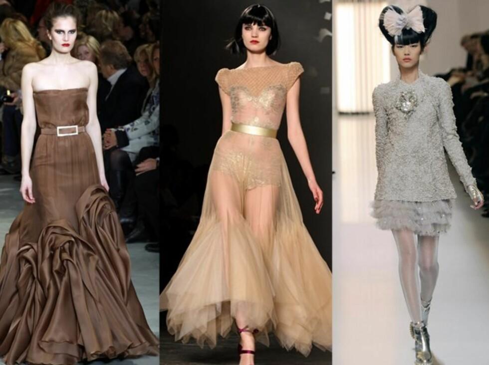 EKSKLUSIVT: Haute Couture er for de færreste. Men det er lov å drømme seg bort. Foto: All Over Press
