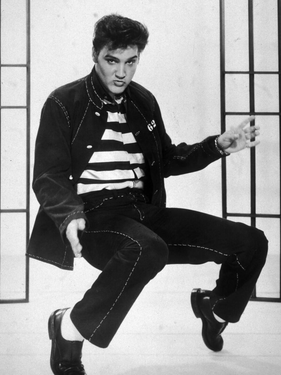 Jailhouse Rock er både en sang og en film. Og mange anser musikkscenen dette bildet er hentet fra som verdens første musikkvideo. Året er 1957. Foto: All Over Press