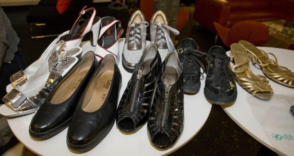 Blant godbitene var Miu Miu-sandaler, joggesko i sølv og nesten ubrukte Topshop-sko.