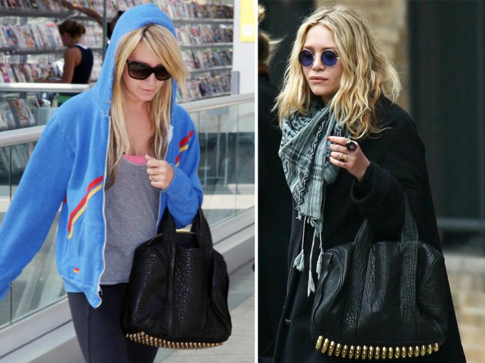 Ashley Tisdale og Mary-Kate Olsen er begge stolte eiere av Alexander Wangs nye trendveske.