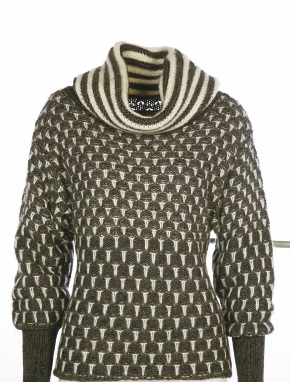 Husker du den gode gamle islenderen? Her er en feminin og flott variant - i grå og hvit strikk (kr 650, Benetton).
