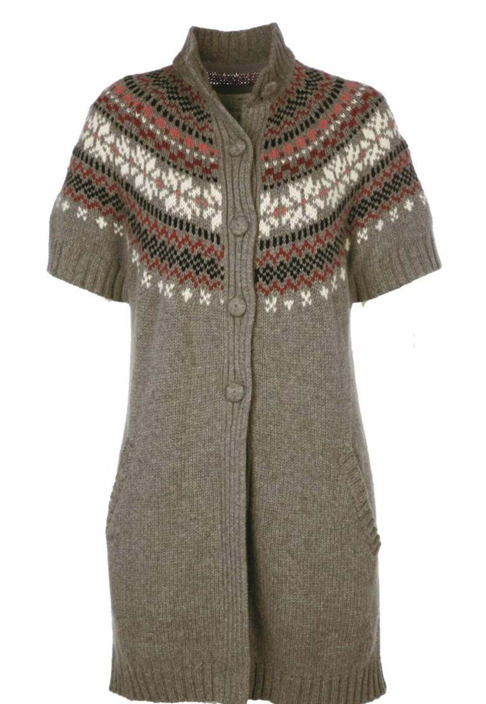 Mønstret ullkardigan - perfekt til enten tights eller jeans (kr 1795, Lexington).