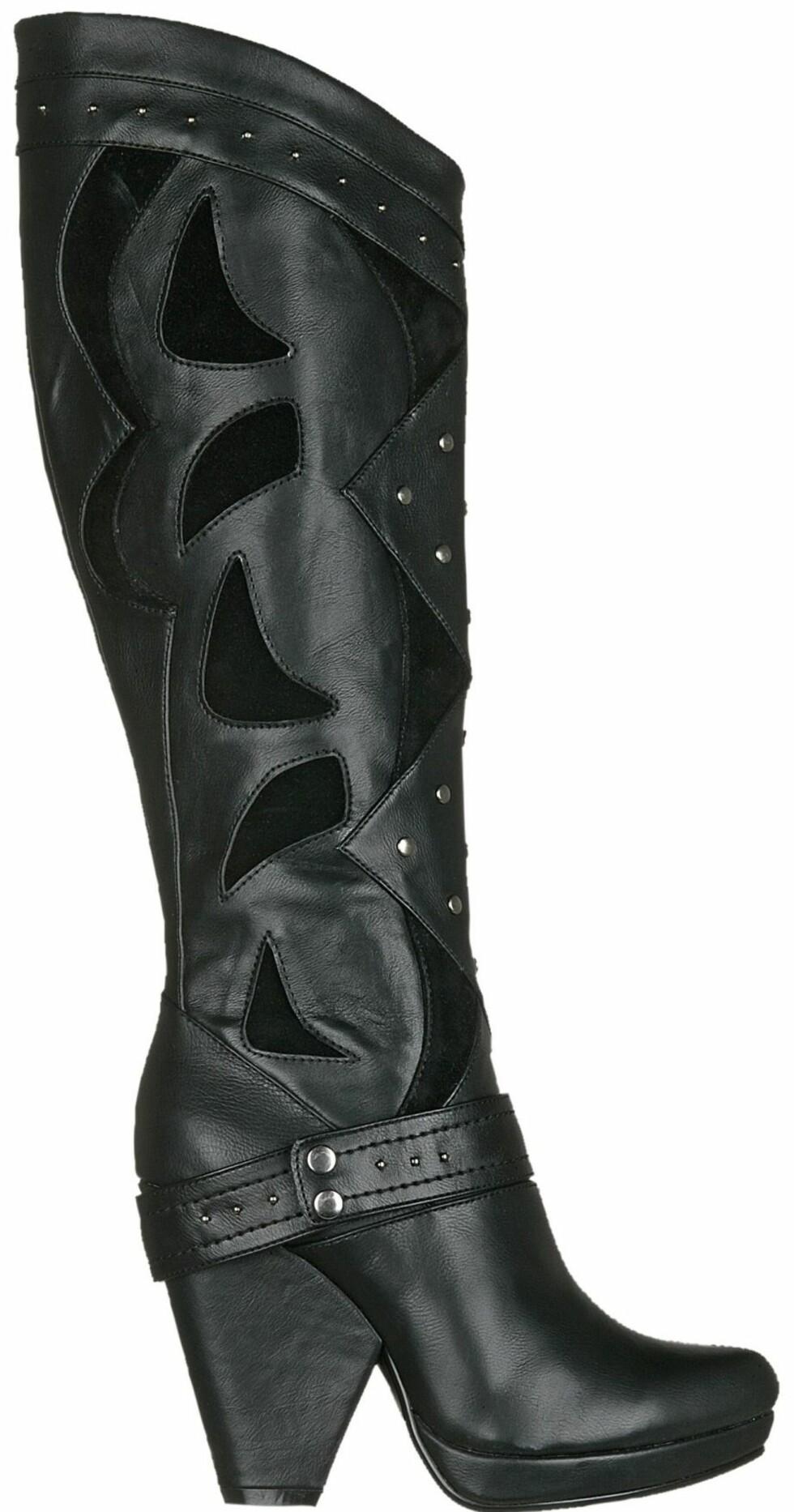 Røffe boots med original hæl (kr 500, Din Sko).