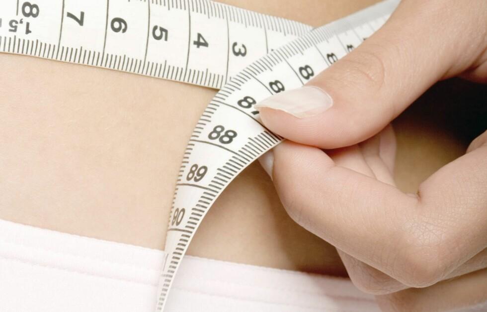 Livvidde er en målemetode som måles ved å ta omkretsen rundt midjen og dele på omkretsen rundt hoften.  Foto: colourbox.com