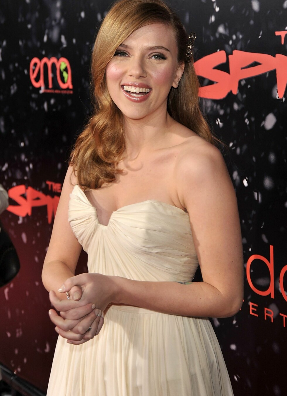 2008: Scarlett Johansson på premieren av «The Spirit» i desember.  Foto: All Over Press