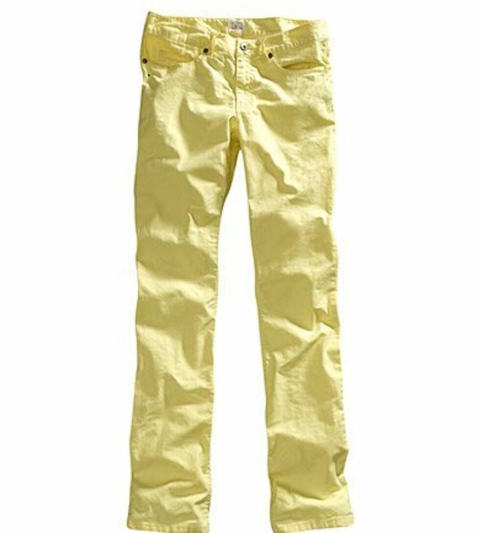 <strong>I 80-TALLSSTIL:</strong> Bomullsbukse med rette bein (kr 200, H&M).