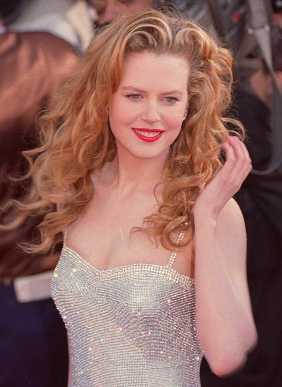 Ikke bare fikk hun spille i film OG gifte seg med tenåringshelten Tom Cruise. Nicole Kidman  hadde også de søteste og mest perfekte bølgene i håret. Og den helt rette schwungen på luggen.  Foto: All Over Press