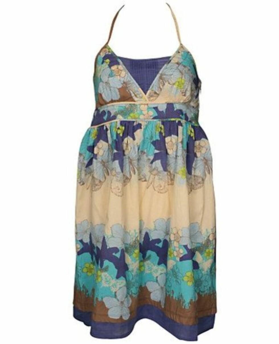 <strong>I FRISKE FARGER:</strong> Florlett kjole med tynne stropper (kr 350, Ichi).