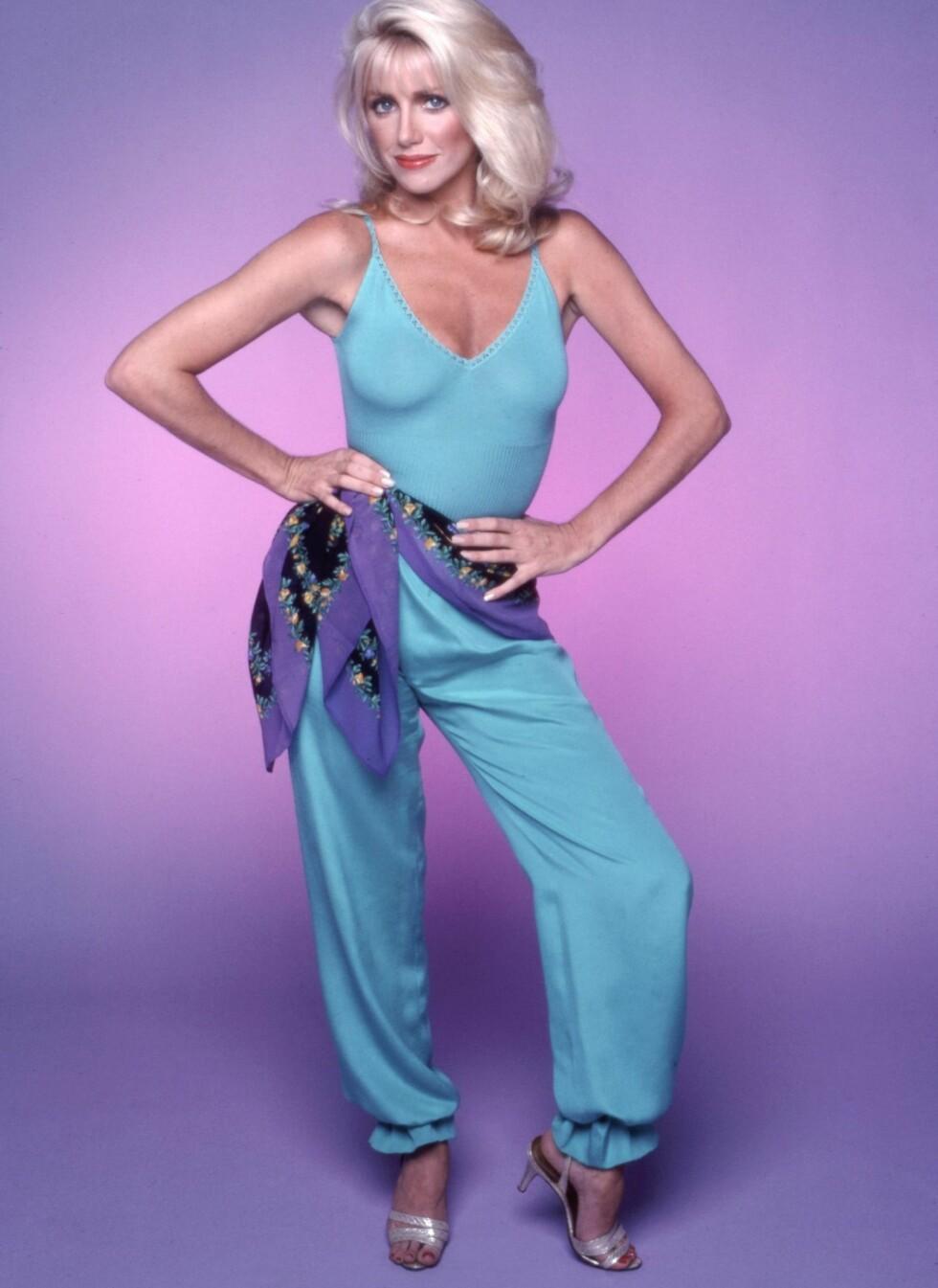 BUKSEDRESSENS GLANSDAGER: Skuespiller Suzanne Somers fra tv-serien Tree's Company som gikk fra 1977-1984, her i 1979.  Foto: All Over Press