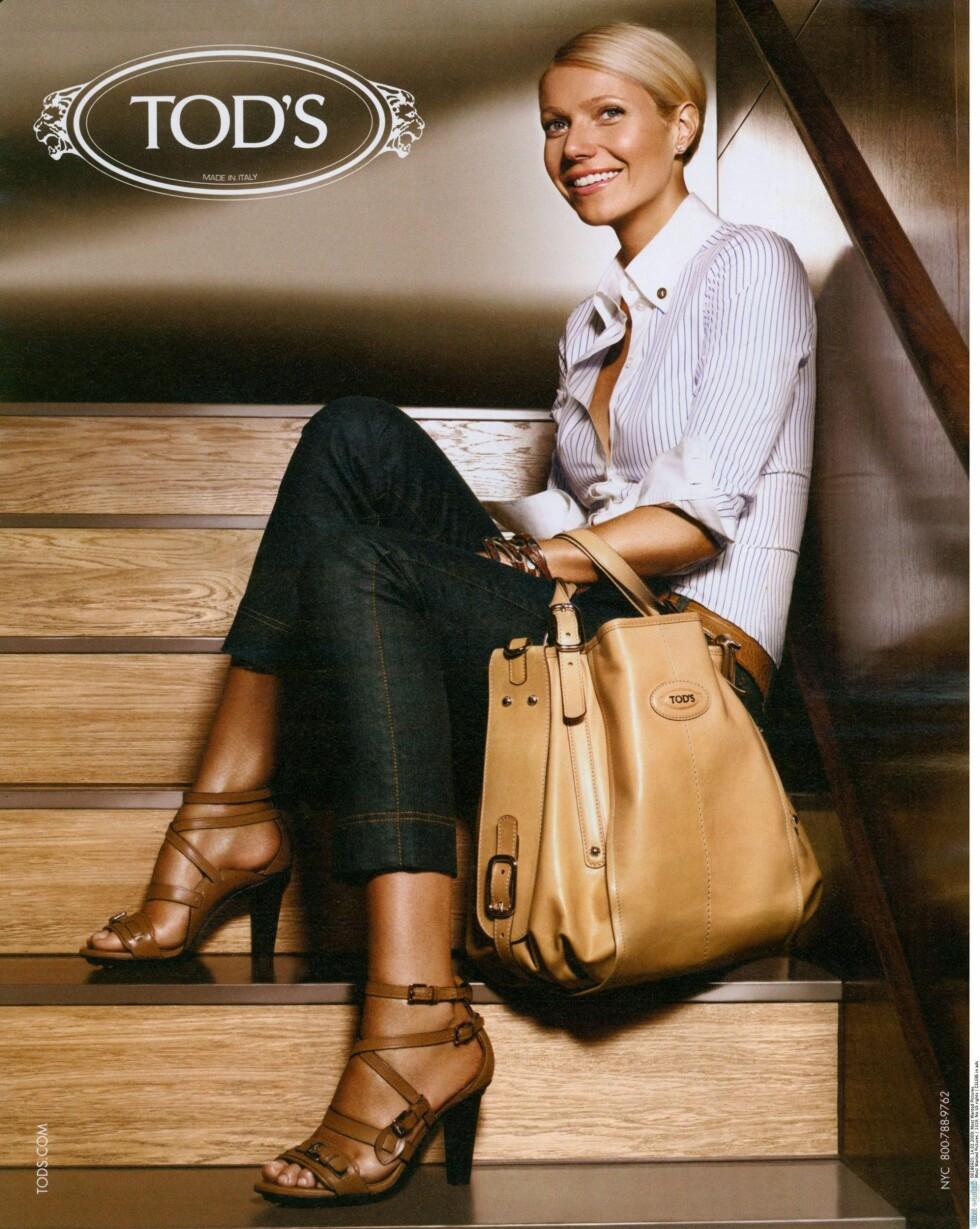 Det er skuespiller Gwyneth Paltrwo som fronter veskekampanjen for Tod's. Foto: All Over Press