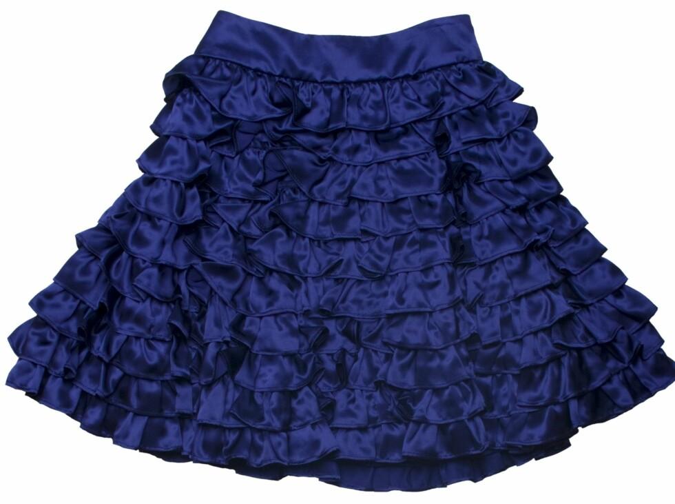 <strong>NORSK DESIGN:</strong> Strutteskjørt i silke som kan pyntes opp eller ned (kr 3900, Elton & Jacobsen).