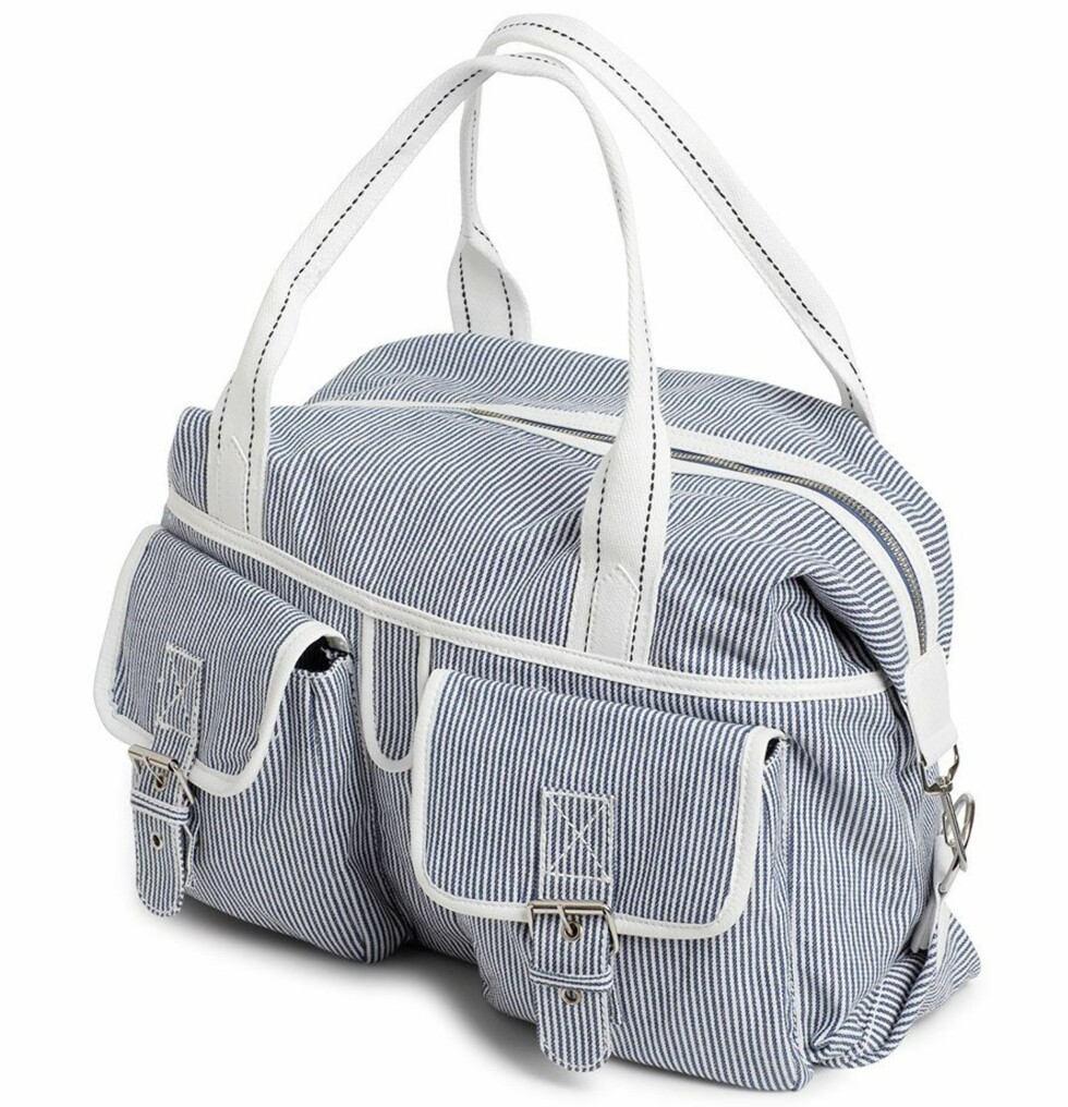 Sporty stripete bag (kr 200, KappAhl).
