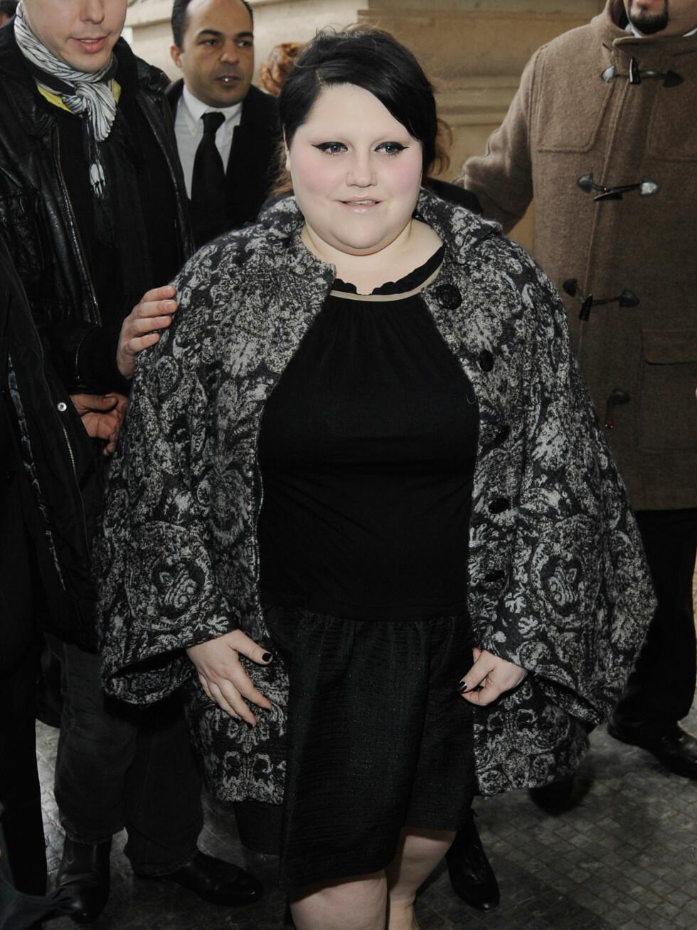Beth Ditto fra The Gossip kjørte svart og mønstret stil. Foto: All Over Press