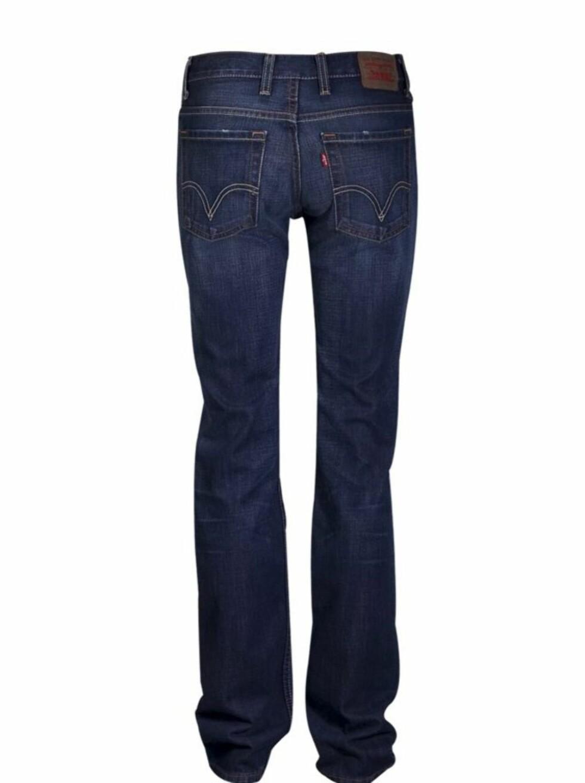 Jeans i stretchdenim med høy midje, normal passform og rette ben (kr 700, Levis 610).