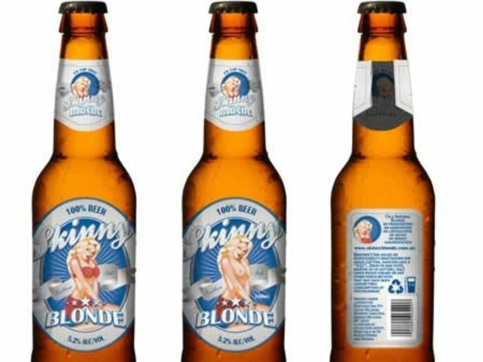STRIPTEASE: Når du har drukket opp denne flasken er bikinien på damen borte.