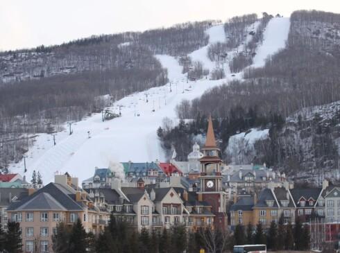 Skiresortet i Mont Tremblant, hvor Richardson falt og slo hodet. Foto: All Over Press