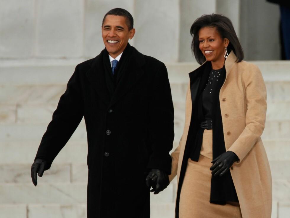 STILIKON: Michelle Obamas stil omtales gjerne som tidløs og elegant, og mange mener hun kan bli den neste Jackie O.  Foto: All Over Press