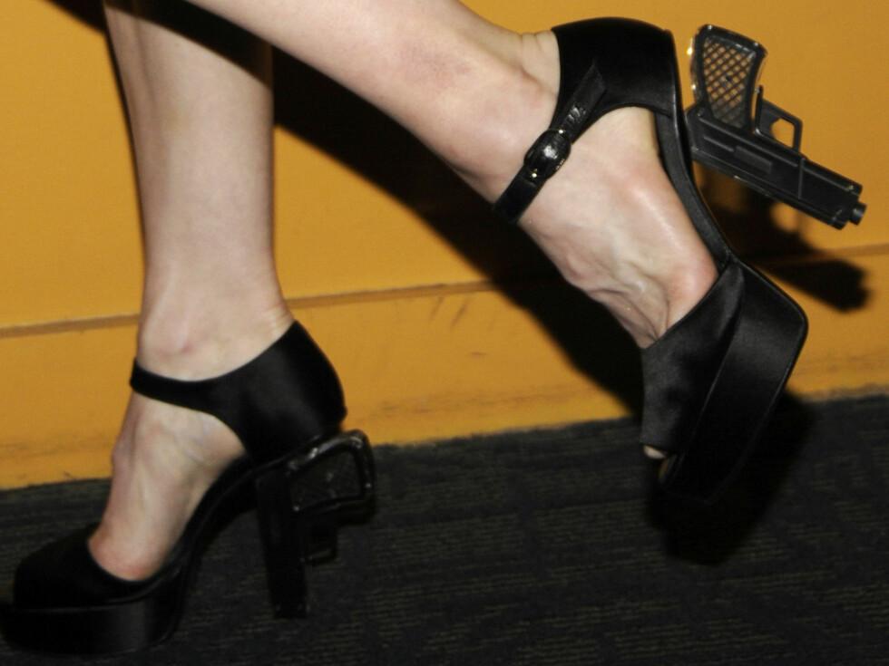 Madonna er kjent for å provosere - under premieren på sin siste film «Filth and Wisdom» i New York mandag kveld stilte hun opp i disse. Foto: All Over Press