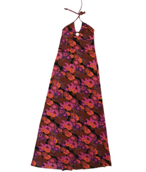 Supersøt kjole med halterneck og retrotrykk(kr 300, Ellos).