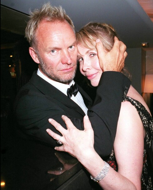 Rockestjernen Sting og kona Trudie Styler praktiserer etter sigende et åpent forhold... Foto: All Over Press