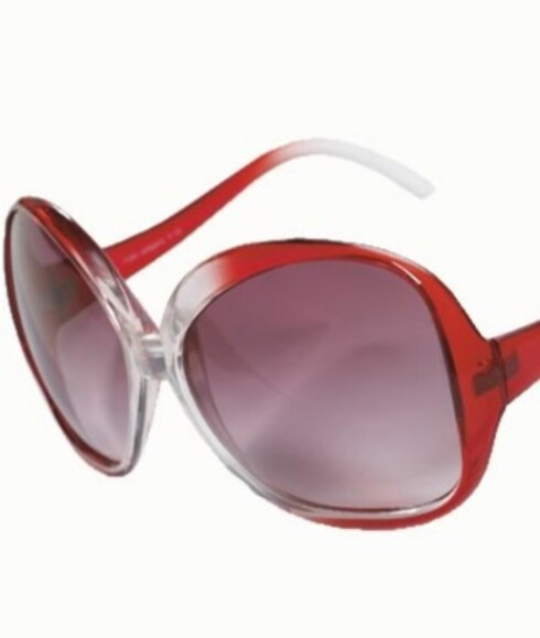 Solbriller i 70-tallsstil (kr 200, Bianco).