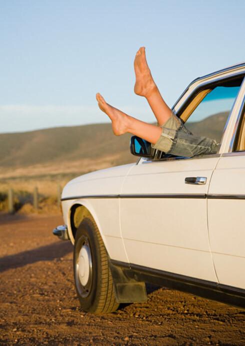 Det kan være en fordel å gå med skjørt dersom dere planlegger å ha sex på bilturen.  Foto: Image Source