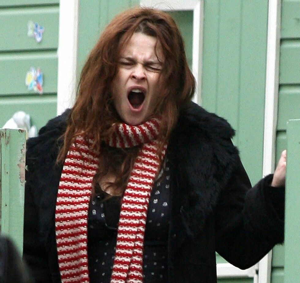 En noe tidlig morgen for skuespiller  Helena Bonham Carter.  Foto: All Over Press