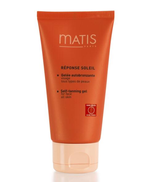 Selvbruningsgele for ansiktet fra Matis (kr 300/75 ml).