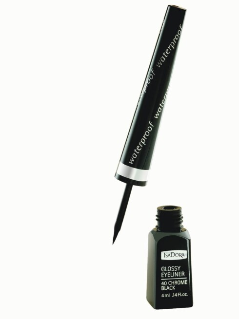 Ny eyeliner?IsaDora Glossy Eyeliner i svart er vannfast og presis (kr 99).