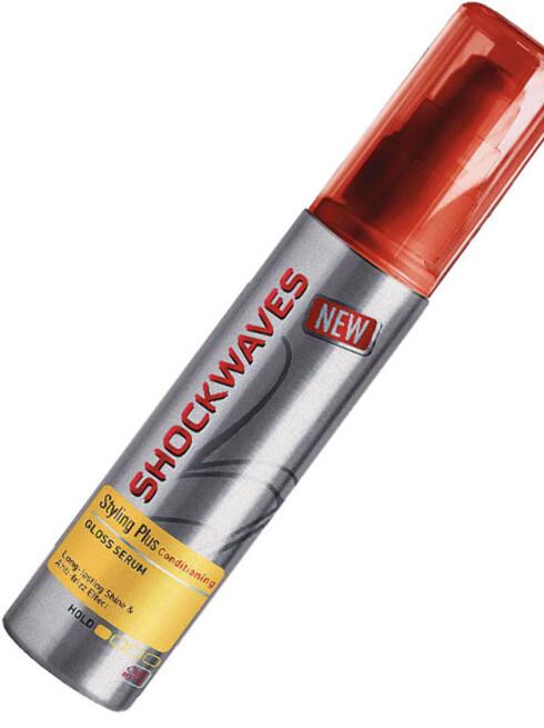 Styling og glansDet er ingen grunn til å velge uttørrende stylingprodukter når mange hårprodukter både pleier og pynter. Shockwaves' nye Gloss Serum gjør håret glansfullt og mindre elektrisk (kr 55).