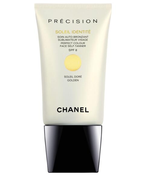 Selvbruningskrem for ansiktet. Fra Chanel, kommer i to ulike nyanser, Doré og Intense (kr 295/50 ml).