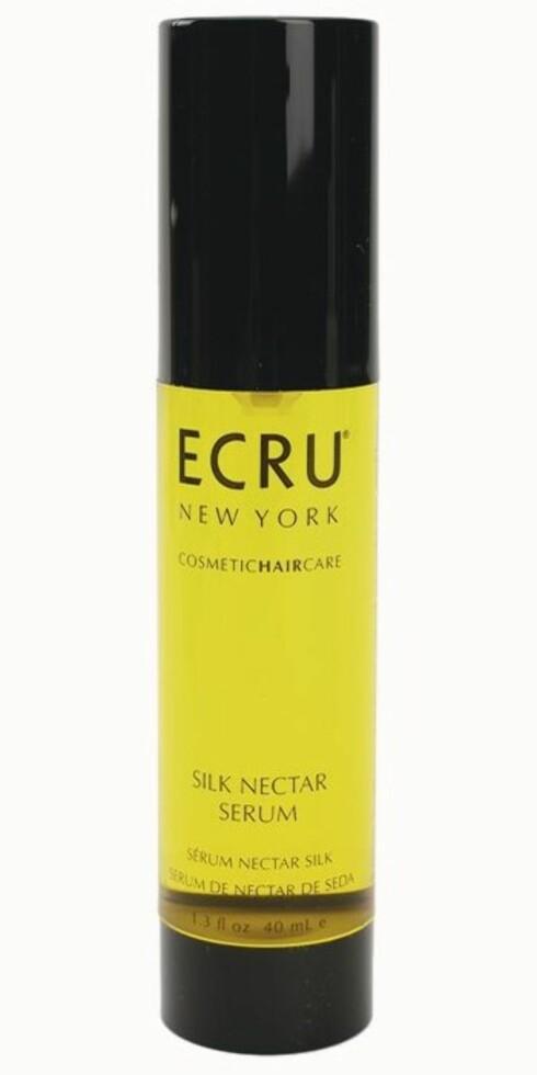 Frisørmerket Ecru New York kaller produktene sine cosmetic haircare. Bestselgeren Silk Nectar Serum (kr 395) basert på silkeprotein.