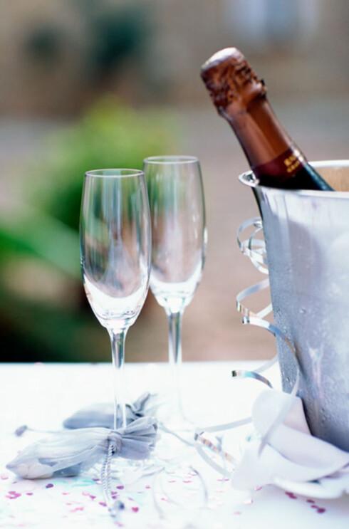 Champagne og musserende vin skal serveres kald, men ikke iskald. Da mister vinen både aroma og og smak.