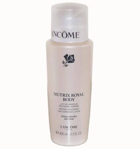 Lancôme Nutrix Royal Body er en intensiv pleie for kroppen, og skal holde huden gjennomfuktet i 24 timer (kr 345).