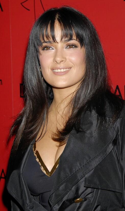 Skuespiller Salma Hayek har alltid vært fan av store øyebryn.