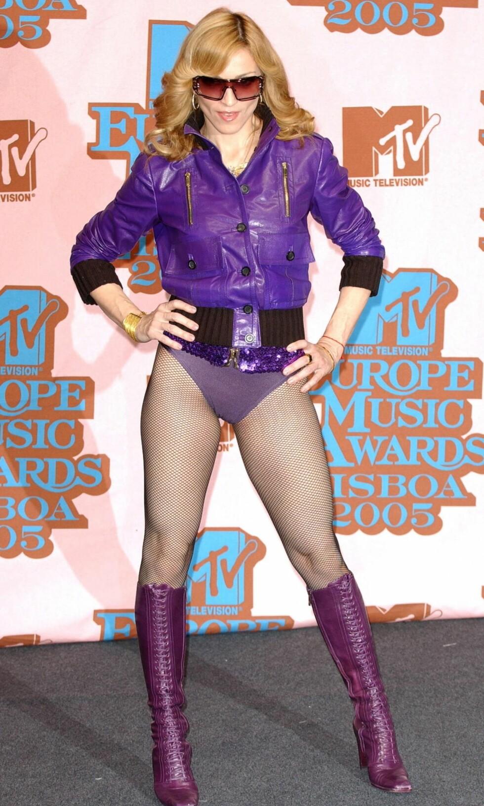 Madonna har alltid fått ros for sin sans for å skpe trender. Her er hun avbildet under MTV Music Awards i Lisboa, 2005.