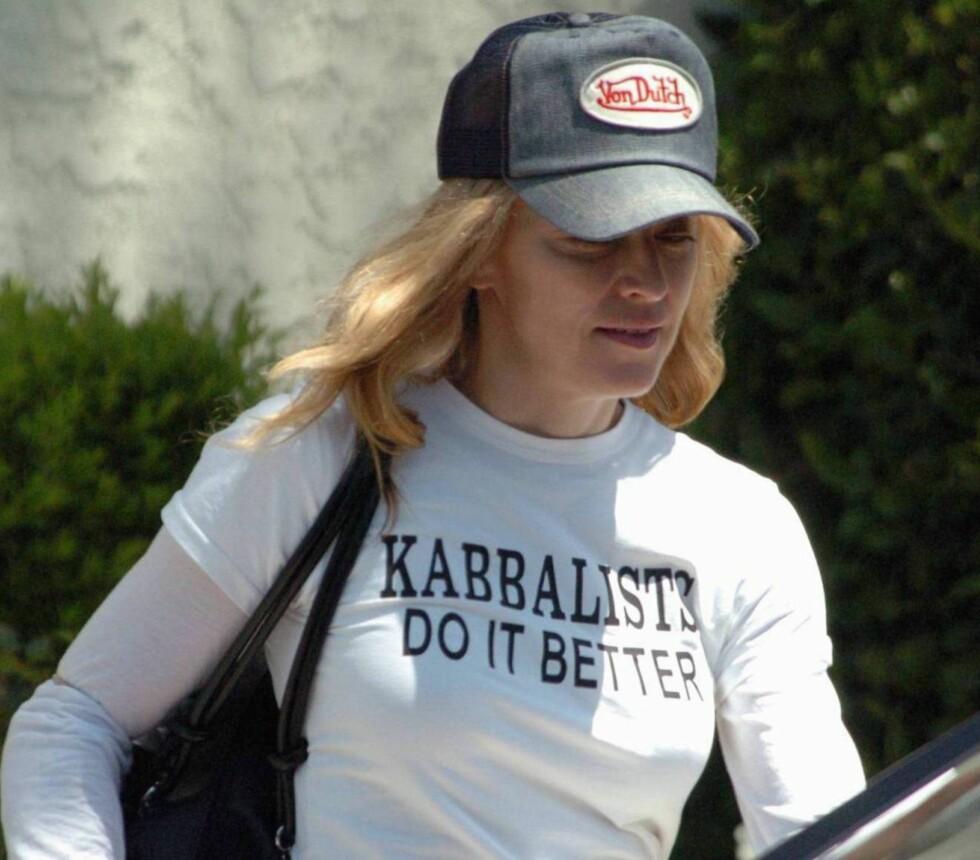 Madonna har fått mye oppmerksomhet for sin tilhørighet til kulten Kabbalah.