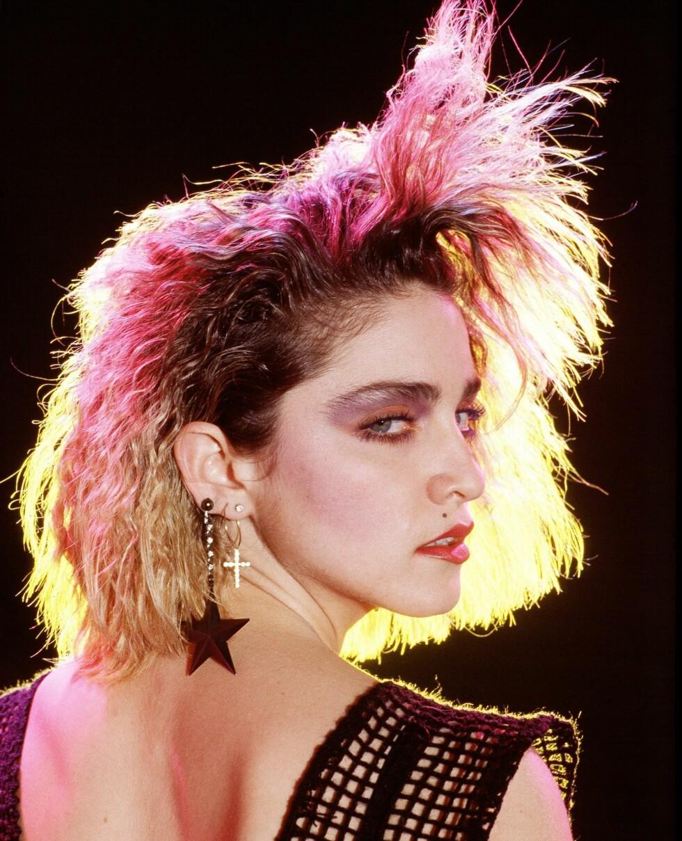 I 1984 var Madonna ganske ukjent for verdenspublikummet. Her er hun fotografert av den hollandske rocke-fotografen Kees Tabak.