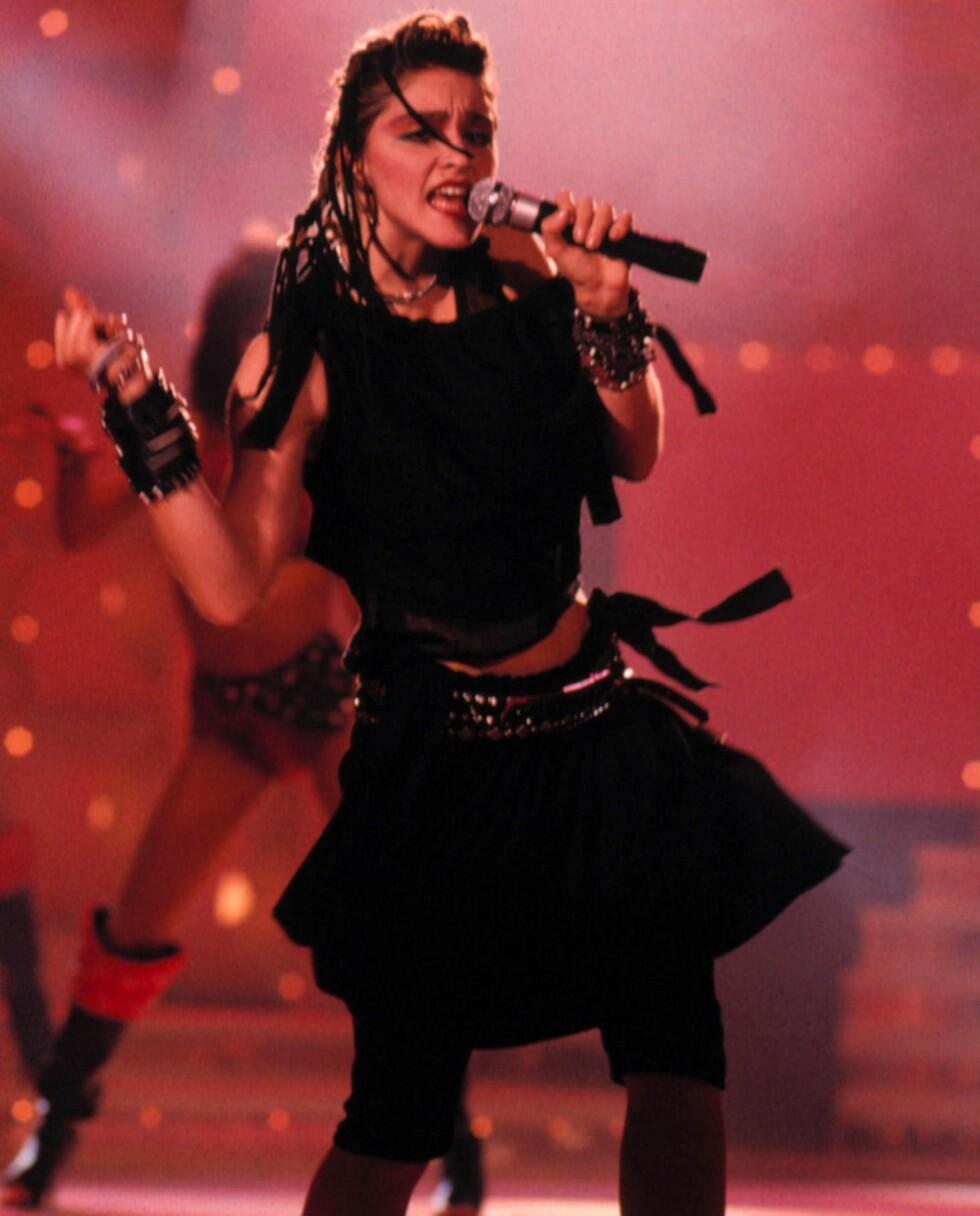 Albumet «Like a Virgin» markerte starten på Madonnas berømmelse. Her er hun fotografert under «The Virgin Tour» i 1985.