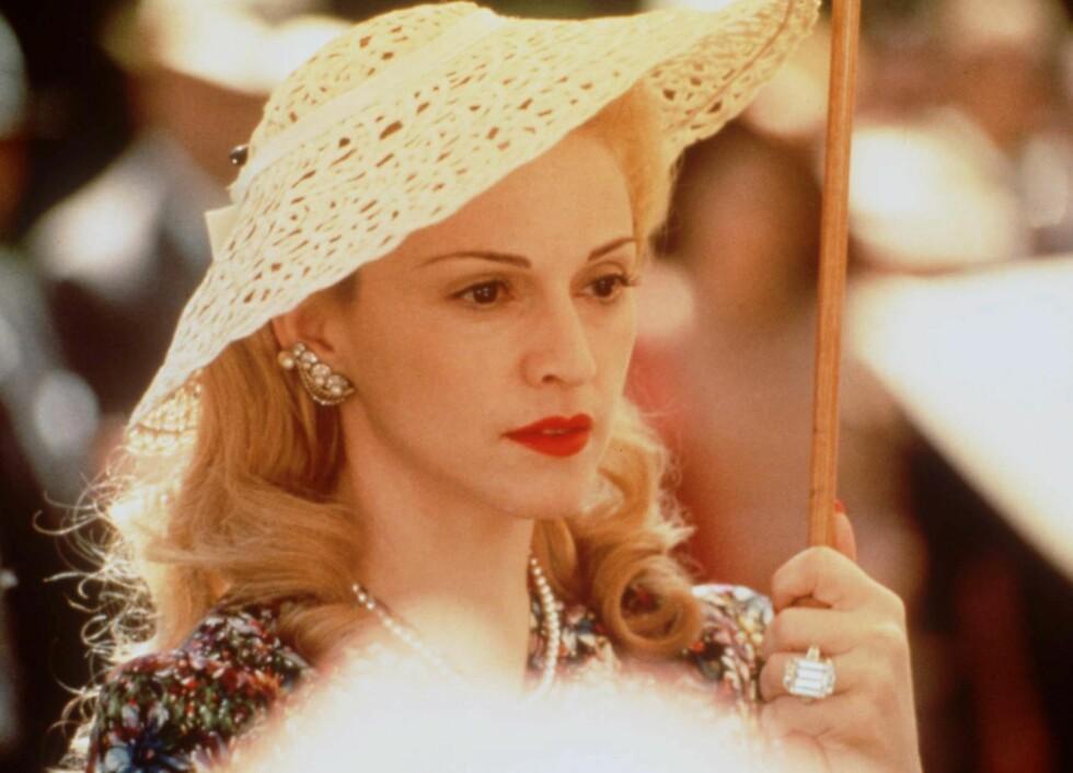 Madonna som den argentinske presidentfruen Evita Perón i filmen «Evita» fra 1996.
