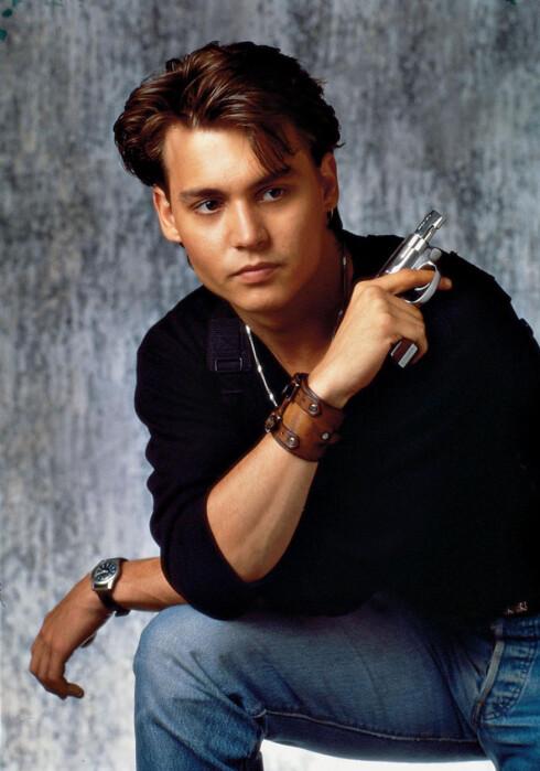 Ung og lovende: Johnny Depp gjorde det stort i USA med suksesserien 21 Jump Street på slutten av 80-tallet.