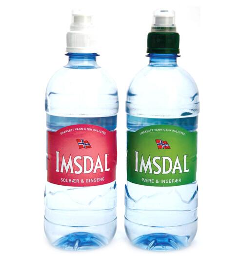 Drikk vann! For eksempel Imsdals nye smaksopplevelse med solbær og ginseng eller pære og ingefær (kr 20, Imsdal).